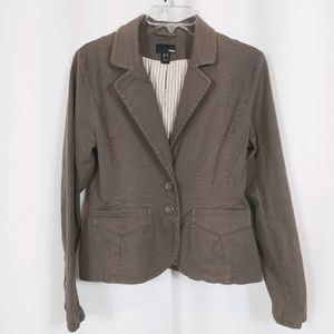 H&M BROWN UTILITY JACKET WITH POCKETS SZ 12